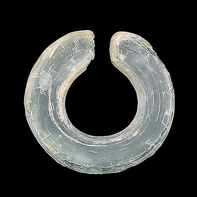An ancient Vietnamese penannular glass ear ornament e2141