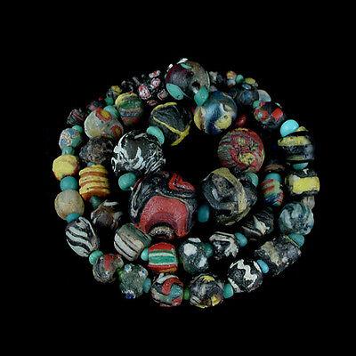 "A Roman to Islamic ""Gabri"" glass bead necklace. x8912 3"