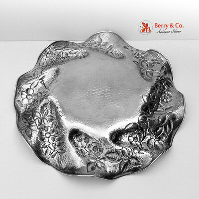 Serving Plate Honey Combed Sterling Silver Gorham 1886 4