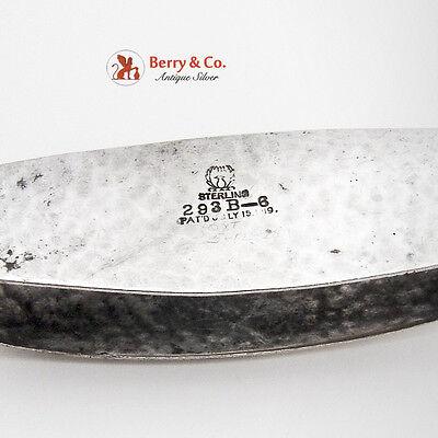 Arts And Crafts Rectangular Napkin Ring Sterling Silver Meriden Britannia Co1919 2