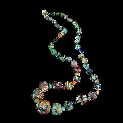 "A Roman to Islamic ""Gabri"" glass bead necklace. x8911 3"