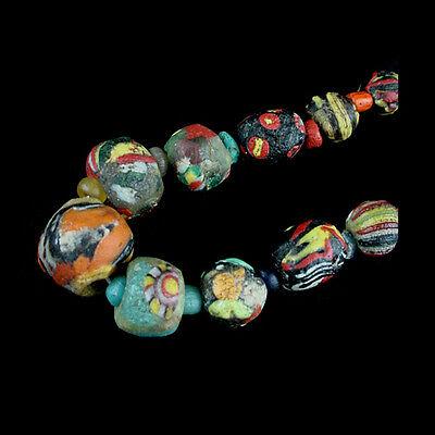 "A Roman to Islamic ""Gabri"" glass bead necklace. x8911 2"