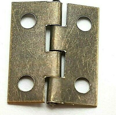 Small Hinges With Screws Bronze Jewellery Box Dolls House 2, 8, 14, 22 or 98 4