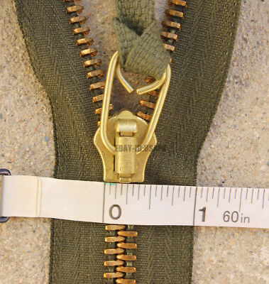 SCOVILL US MILITARY BRASS ZIPPER M-65 M-51 JACKET REPLACEMENT REPAIR ARMY TALON