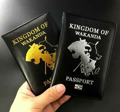 Passport Cover Wakanda Black Panther Travel Credit Card Case ID Holders 4