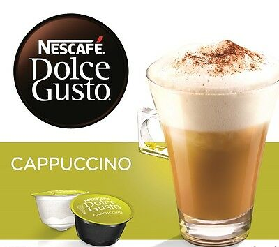 NESCAFE Dolce Gusto Cappuccino 24 Coffee and 24 Milk Pods Capsules Brand New