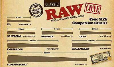 RAW Natural Cones Pre-Rolled King Size Box 1400 - CERTIFIED RAW Re-seller 3