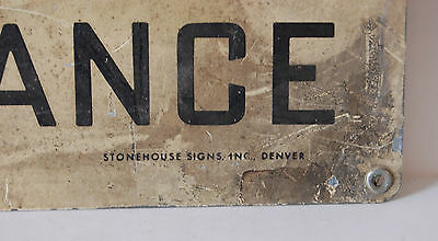 Industrial Antique NOTICE TRUCKERS DO NOT ENTER HERE Sign Stonehouse Signs Inc. 5