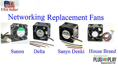 PACK OF 2X new replacement fans for Aruba HP 2530-24G-PoE+ (J9773A) Switches