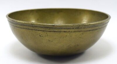 Antique Finely Engraved Calligraphy Persian Islamic Art brass Bowl. G3-26 US 4