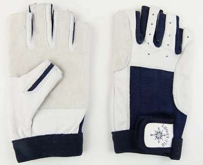 2 Paar Rindsleder Handschuhe L 9  mit Finger Rigging Roadie Montage Handschuhe