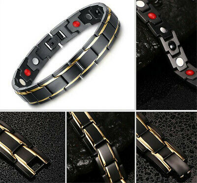 Therapeutic Energy Healing Bracelet Stainless Steel Magnetic Therapy Bracelet UE 2