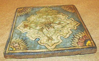 Antique Oriental Persian Middle Eastern Tile with Floral Motif 3