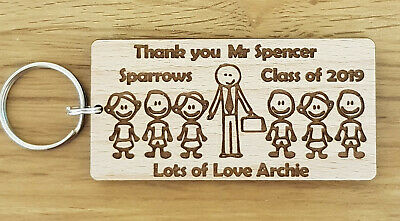 Personalised Keyring School Gifts For Teacher Nursery End Of Year Term Christmas 3