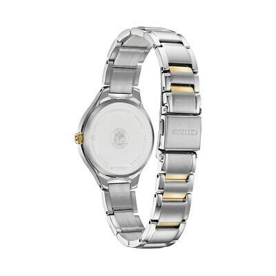 Citizen Eco-Drive Corso Women's Diamond Accents Two-Tone 29mm Watch FE2104-50A 2