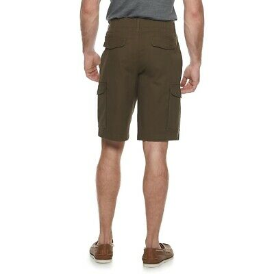 SONOMA Mens B/&T Stretch Ripstop Brown Cargo SHORTS Sizes 46  48  52 NWT