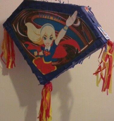 Superwoman Superhero Girls Pinata set Kids Smash Party Fun Stick Super S Comic