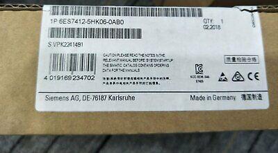New In Box Siemens 6ES7412-5HK06-0AB0 6ES7 412-5HK06-0AB0 One year warranty #XR 3