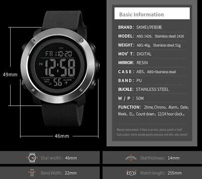 SKMEI Watch Mens/Womens Watches Waterproof Sport Outdoor LED Digital Wristwatch 11
