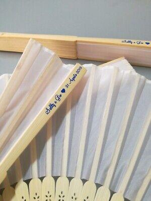 50 Ventagli in bamboo matrimonio art. Firenze,  NASTRO PERSONALIZZATO OMAGGIO 8
