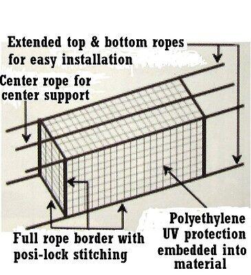 Batting Cage Net 10' x 12' x 30' #24-42PLY w/ Door & Frame Baseball Softball 10