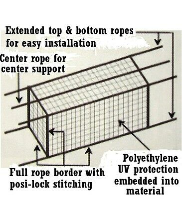 Batting Cage Net 10' x 12' x 40' #24 (42PLY) w/ Door & Frame Baseball Softball 8