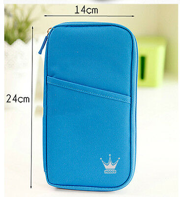 Travel Wallet Ticket Holder with RFID Blocking Covers for Passport Credit Cards 5