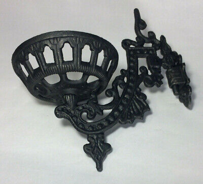 """New 9"""" Cast Iron Wall Bracket For Oil Lamps, Early American / Victorian Style 3"""