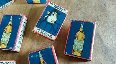 protège boîte allumettes Vermouth Briol en métal lithographié 10