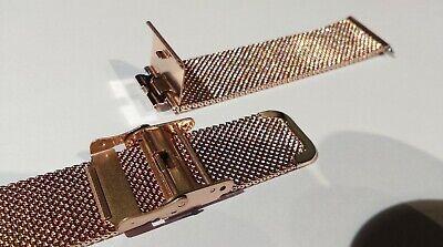 Bracelet de Montre Maille Milanaise 18 mm Couleur Argent - Marque AIGHT - Mesh 7