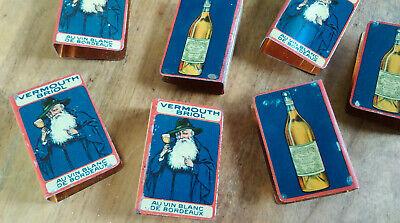 protège boîte allumettes Vermouth Briol en métal lithographié 8