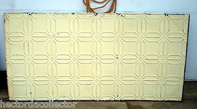 SALE  Antique Ceiling Tin Tile Frame Simple and Elegant Shabby Chic Canvas 3