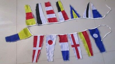 Beach Party 17 Feet 40 flags Bunting MARINE NAVY Signal Code FLAG COTTON
