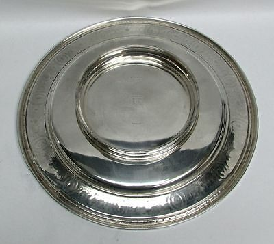 International 1924 Wedgwood Pattern Sterling Silver Low Footed Cake Plate #H86 6