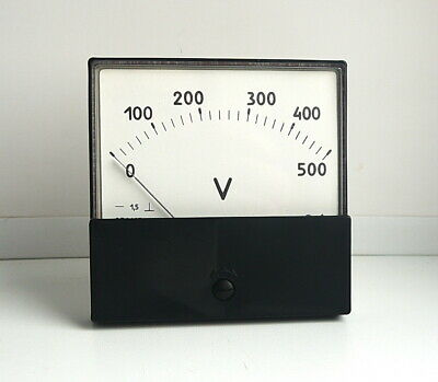 DC 0-500V Analog Dial panel Voltage Gauge Volt meter , USSR,  Lot of 1 pcs 4