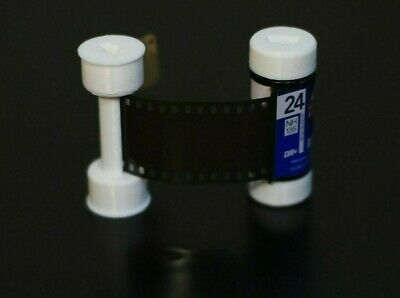 35mm to 120 Film Adapter & Spool for Medium Format Cameras - 3D Printed - White 7