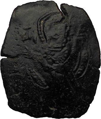 Manuel I , Comnenus 1143AD Medieval Byzantine Coin St. Theodore CHRIST  i30695 2