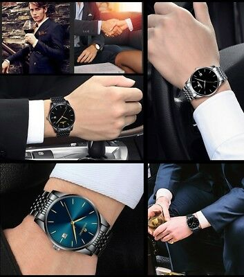 Men's Waterproof Military Sport Date Analog Quartz Wrist Watch Business Watches 7
