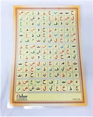 ALIF BA Laminated Arabic Alphabet Qaidah Card for Children (A4 - Single Page) 2