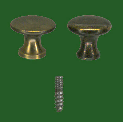 #2 (1Pair) Polished Macey Bookcase Door Knobs Near Perfect Profile Dimensionally 3