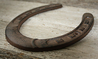 Cast Iron Lucky Horseshoe Rustic Ranch Western  Home Decor 5 1/2 x 6.5 in TEXAS 4