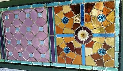 Antique American Aesthetic  Stained Leaded Glass Window 9