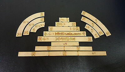 star wars x wing movement templates set 9 99 picclick