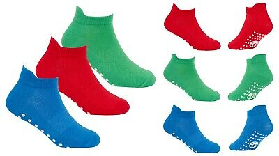 Kids Trainer Socks Gripper Sole Ideal For Soft Play Trampolining Gymnastics
