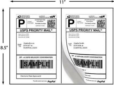 12,000 Half Sheet Internet Shipping Labels 12 Cases  Premium 2 UP  Best Print ®