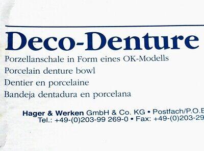 GEBISS OBERKIEFER Zahlteller Ablage Ascher um 1995 MAKELLOS Zahnarzt Deko KURIOS 6