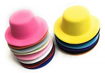 Set of 4 x Mini Round Top Hat Cap Fascinator Felt Hat Base Supplies Wholesale 2