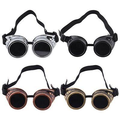 Cyber Goggles Steampunk Glasses Vintage Retro Welding Punk Gothic Victorian4RX 3