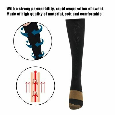 (5 Pairs) Copper Compression 20-30mmHg Graduated Support Socks Mens Womens S-XXL 4