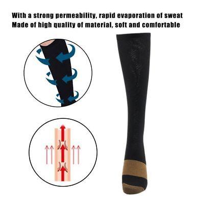(5 Pairs) Copper Compression Socks 20-30mmHg Graduated Support Mens Womens S-XXL 7